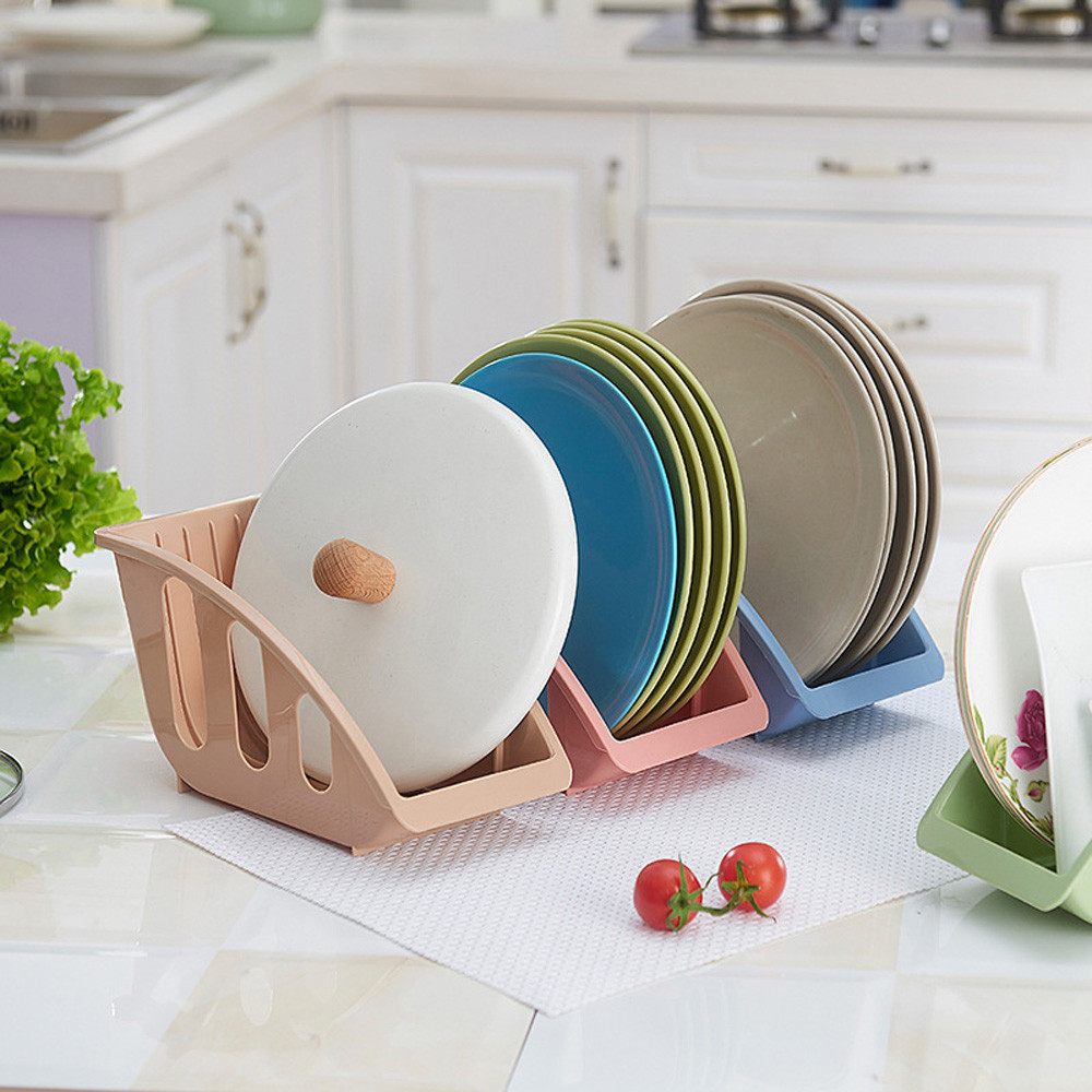 Single Drain Plate Kitchen Rack Holder Spoon Shelf Rack Bowl Dishes Cupboard (China)