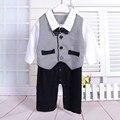 1 ano menino baby dress senhores romper criança macacão de manga longa bebê menino primeiro aniversário outfits mamelucos para bebes