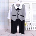 1 year boy baby dress gentlemen romper toddler long sleeve jumpsuit baby boy 1st birthday outfits mamelucos para bebes
