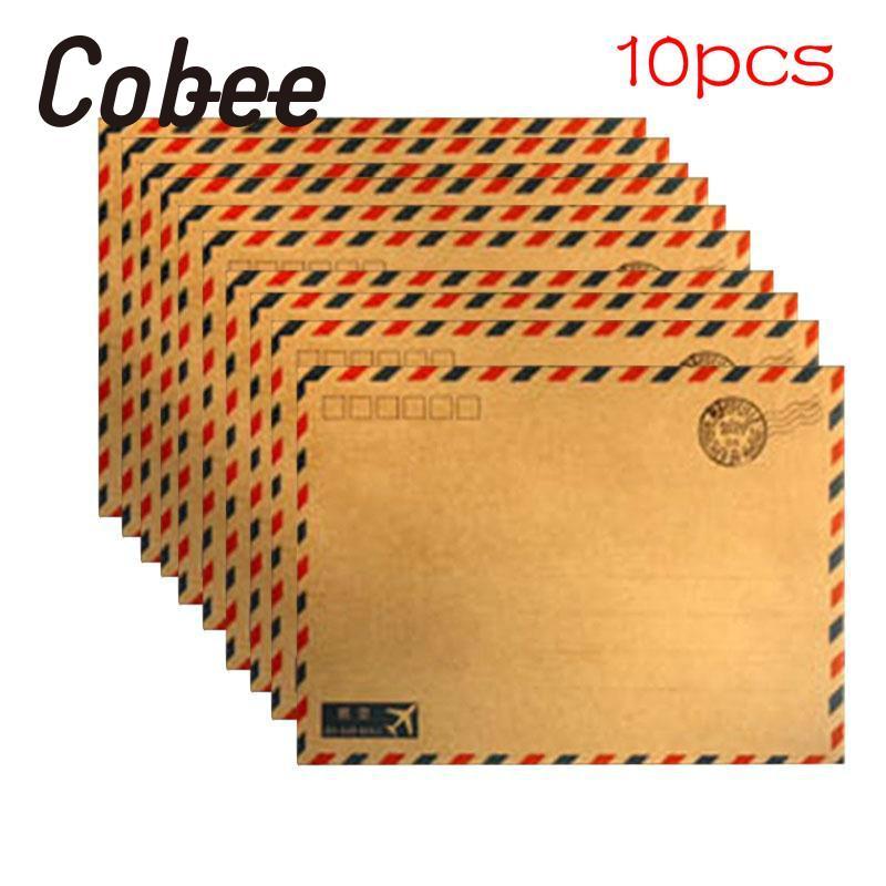 Cobee Heißer Kreative 10 teile/satz kraft Luftpost Vintage Umschlag ...