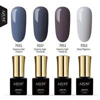 AZURE BEAUTY 4pcs/lot Gel Varnish Nail Polish Grey Color Series Hybrid Varnish Soak Off Azure Nail Gel Polish Nail Paint