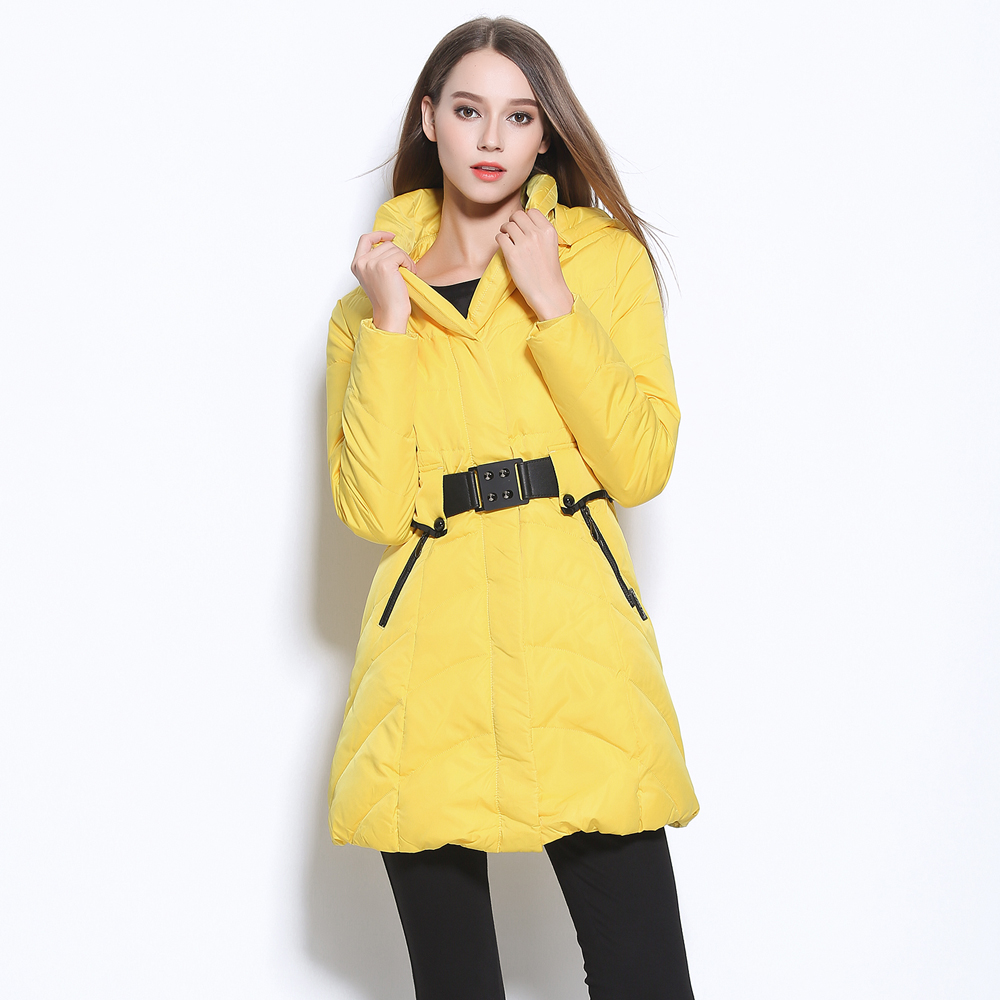 ФОТО Winter New Arrival Excllent Quality Down wear Women's Slim Thickening Coat Long Down Jackets wtih Removable hat