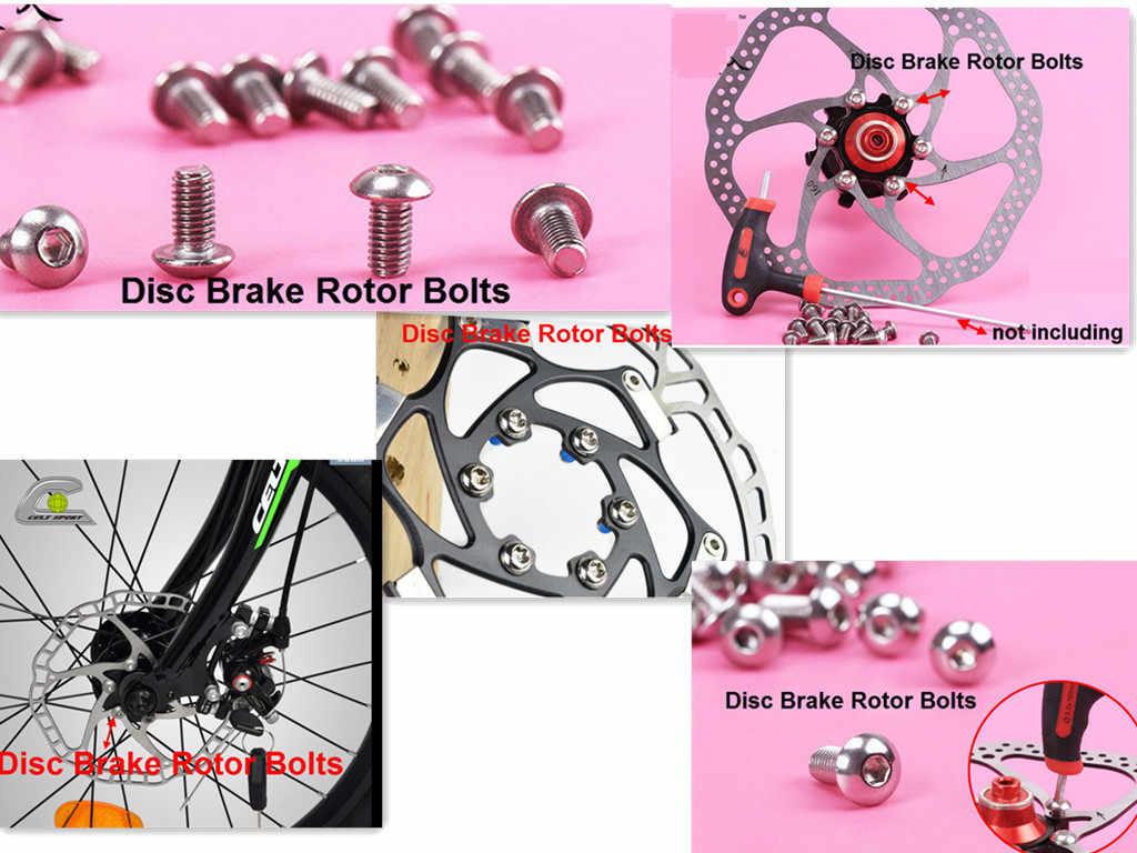 Bynccea Bike Disc Brake Rotor Bolts,M5x10mm Bicycle Rotors Screw for MTB,Road Mountain Bike
