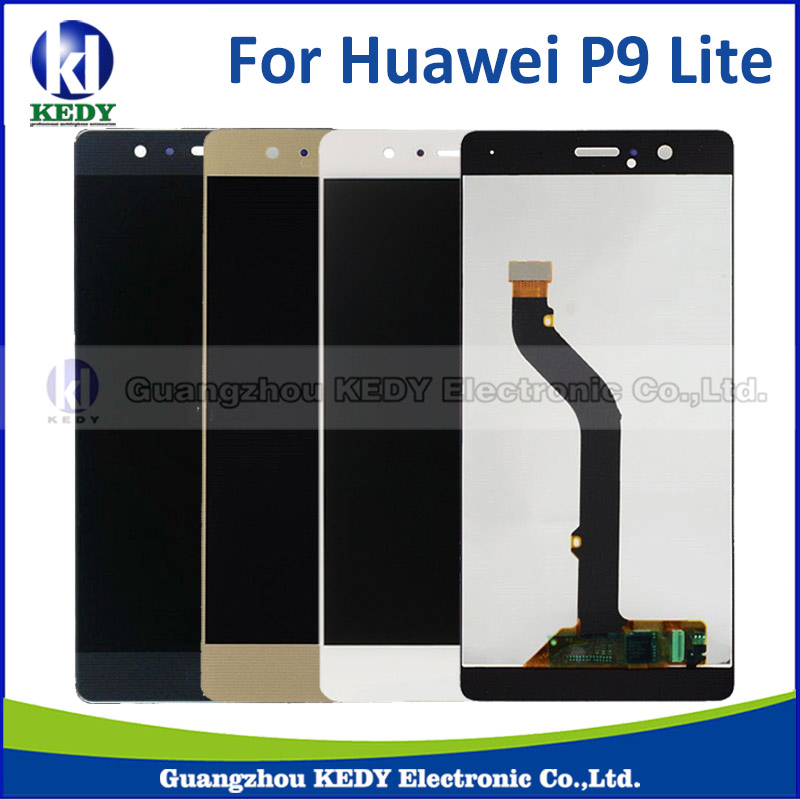 Подробнее о High Quality White Gold Black Color 5.2inch LCD Display + Touch Screen Digitizer Assembly For Huawei P9 lite free dhl 5pcs high quality lcd display digitizer touch screen glass assembly for huawei p9 lite g9 black white gold with frame