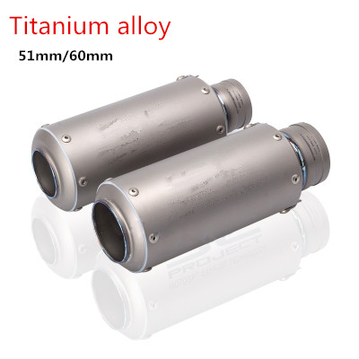 New High Quality Titanium Alloy 61mm 51mm Universal Motorcycle Exhaust Pipe GP Muffler Racing With laser For BMW S1000RR R1 R6