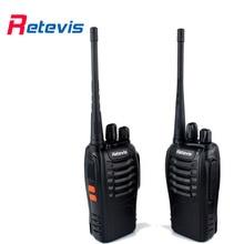2 unids Retevis H777 Radio Walkie Talkie UHF 400-470 MHz Frecuencia Portátil Comunicador A9105A