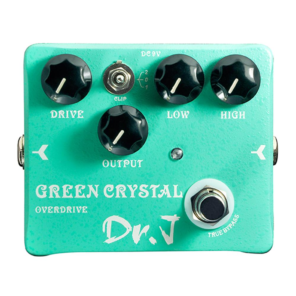Dr. J Green Crystal Overdrive Electric Guitar Effect Pedal Overdrive Hand Made Guitar Accessories True Bypass D50 hand made loop electric guitar effect pedal looper true bypass 3 looper switcher guitar pedal hr 1