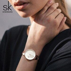Image 4 - Shengke Rose Gold Horloges Vrouwen Set Luxe Kristallen Oorbellen Ketting Horloges Set 2019 Sk Dames Quartz Horloge Geschenken Voor Vrouwen