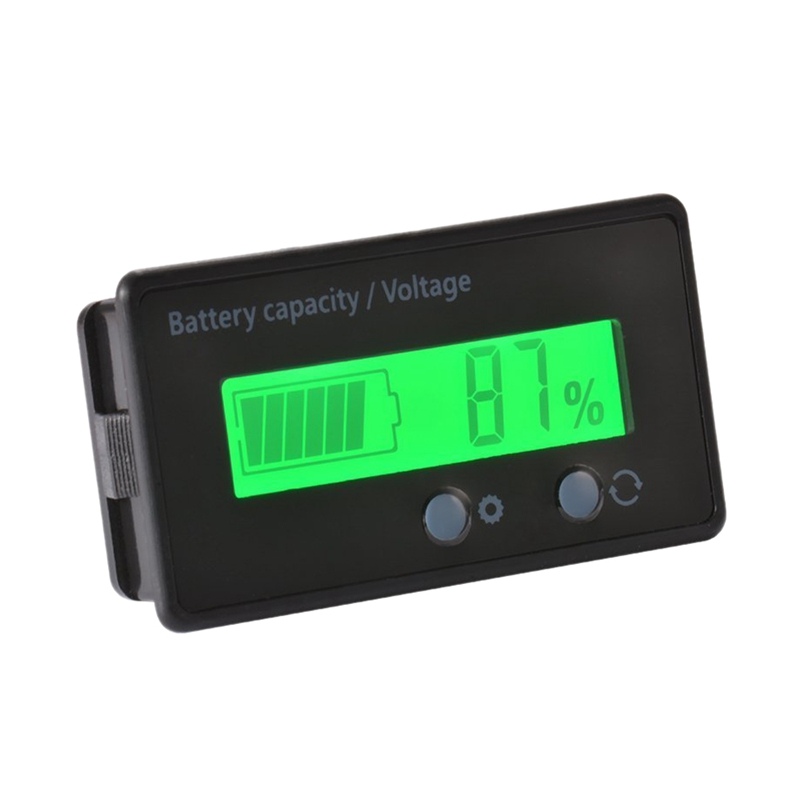 Lcd Battery Capacity Monitor Gauge Meter,Waterproof 12V/24V/36V/48V Lead Acid Battery Status Indicator,Lithium Battery Capacit