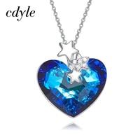 EYE TOUCH Fashion Jewelry Crystals From Swarovski Australian Rhinestone Blue Color Heart Shaped Valentine S Day
