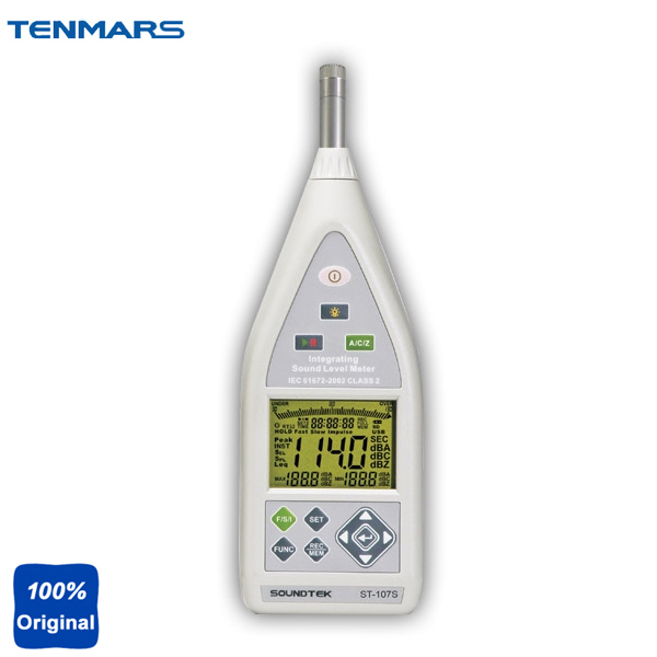 ST107S Class 2 Integrating Sound Level Meter USB Interface AC and DC Output with Bargraph Display