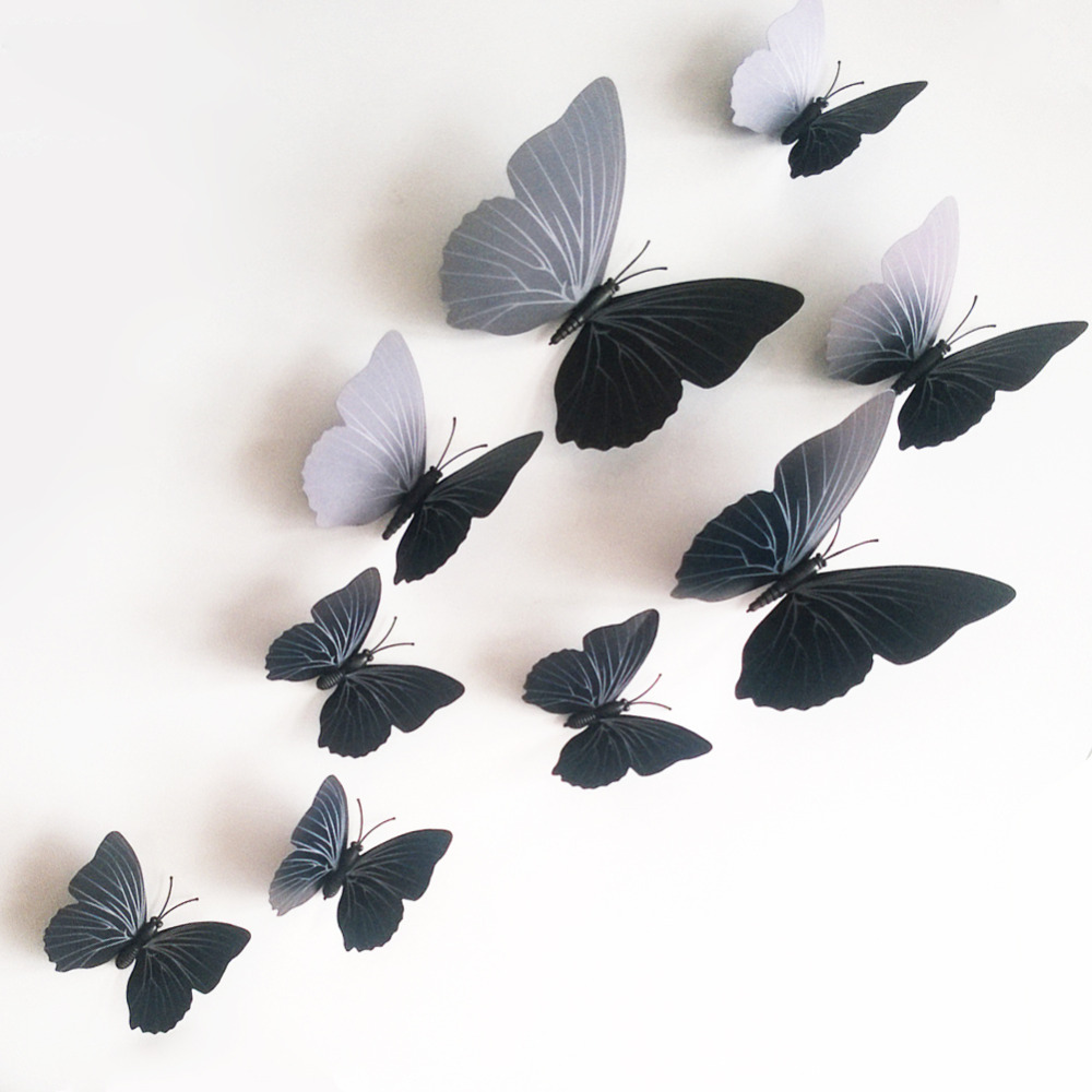 Aliexpress.com: Compre 12pcs/lot 3D Butterfly Wall Stickers Wall Mural Home  Decals Wedding Decorations Butterflies Decors For Home Fridage Decoration  De ... Part 90