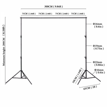 6.5ft*10ft Photo Backdrops Background Support System Stands With Photography Studio Adjustable Crossbar + carry bag