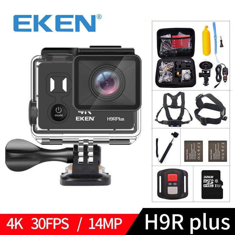 EKEN H9R plus A12 Ultra 4 K 30FPS Wifi caméra d'action 30 M étanche 1080 p aller Image H9Rplus Ambarella 14MP pro caméra de sport
