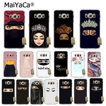 MaiYaCa Phương Đông Người Phụ Nữ Trong Hijab Mặt Hồi Giáo Hồi Giáo Gril Mắt Ốp Lưng Điện Thoại Samsung Galaxy S7edge S6 Edge Plus S5 S8 S7 ốp Lưng