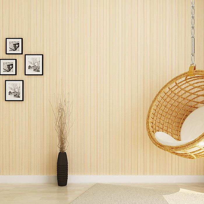 ФОТО Modern minimalist color flocking vertical stripe wallpaper plain non-woven bedroom living room TV backdrop wallpaper