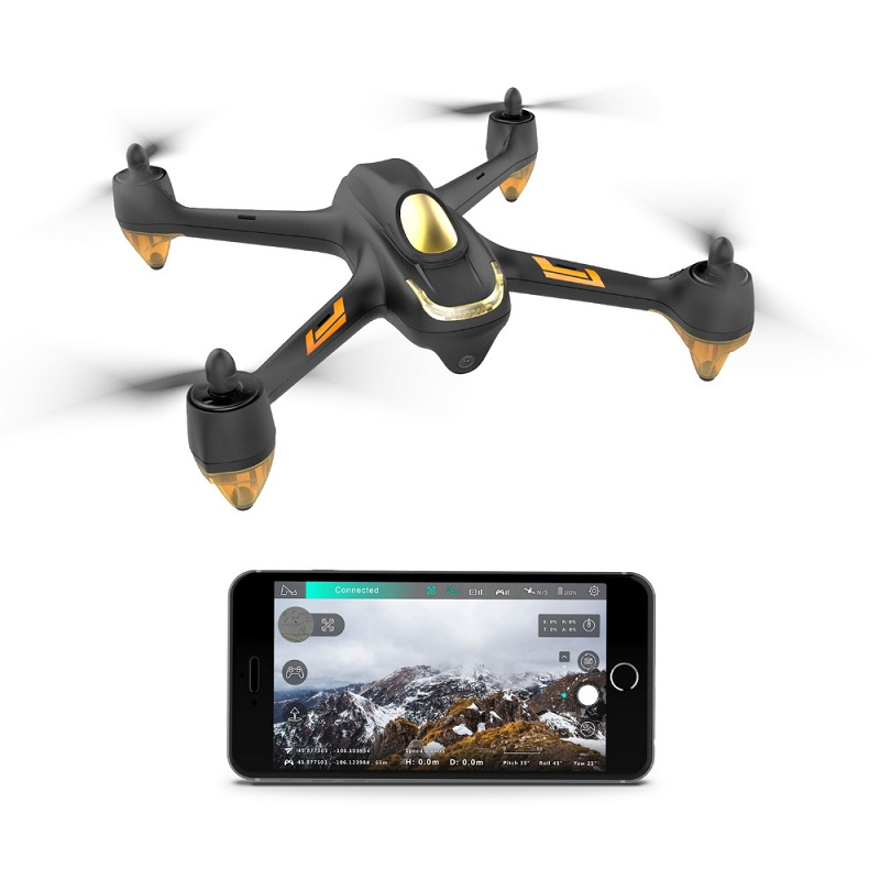 Hubsan GPS Drone Rc Helicopter H501M Brushless Follow WIFI FPV X4 Black with Functional