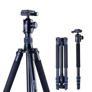 Manbily AZ300 Professional Tripod For DSLR Camera Compact Travel Tripod Monopod With Ball Head SLR Camera Stand Better than Q999