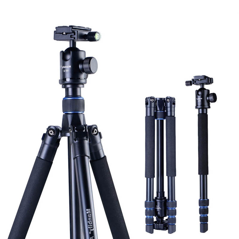 Manbily AZ300 Professional Tripod For DSLR Camera Compact Travel Tripod Monopod With Ball Head SLR Camera Stand Better than Q999 zomei z888 portable stable magnesium alloy digital camera tripod monopod ball head for digital slr dslr camera