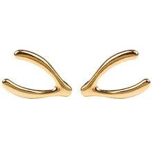 925 Silver Vintage Simple Earrings Jewelry Cute Rose Gold Color Geometric Metal Stud Earrings Gift for Women Girl стоимость