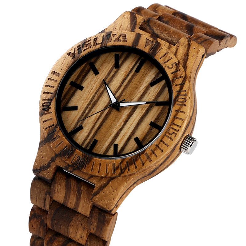 Diogenic Simple Bamboo Wooden Wrist Watch for Men with ...