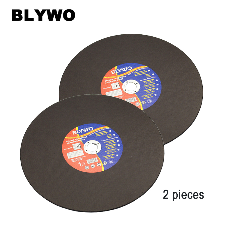 2 Pieces 355 Mm Metal Cutting Discs 14 Inch Cutting Disc Wheels Fiber Reinforced Grinding Wheel Blade