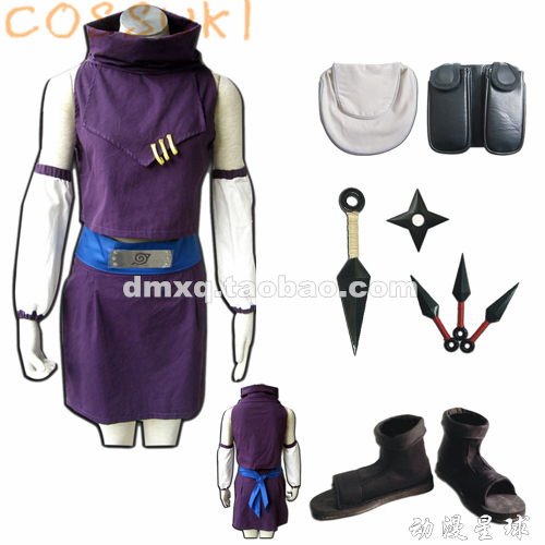 Free Shipping! Stock! Naruto Yamanaka Ino First Generation Full Set Cosplay Costume Suits ,Perfect Custom For you!
