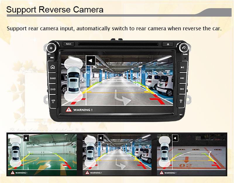 2 Din 8 inch Quad core Android vw car dvd for Polo Jetta Tiguan passat b6 cc fabia mirror link wifi Radio CD in dash dvd