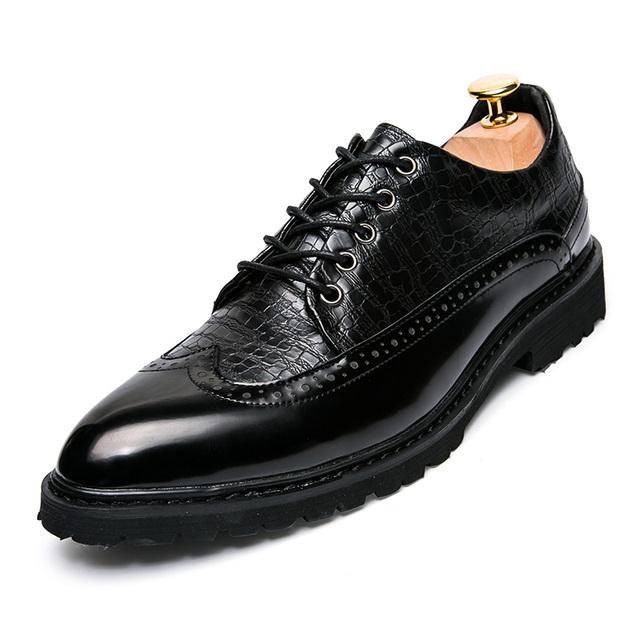 Primavera de corea del Vestido de Los Hombres de Negocios Oxfords Zapatos de Color Clásico Calzado Hombre Urban Fashion Lace Up Zapatos de Cuero Del Tobillo Martin Botas