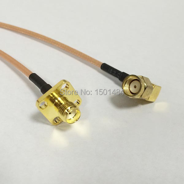 RG316 RP-SMA MALE ANGLE to RP-SMA Female Flange Coaxial RF Cable USA-US