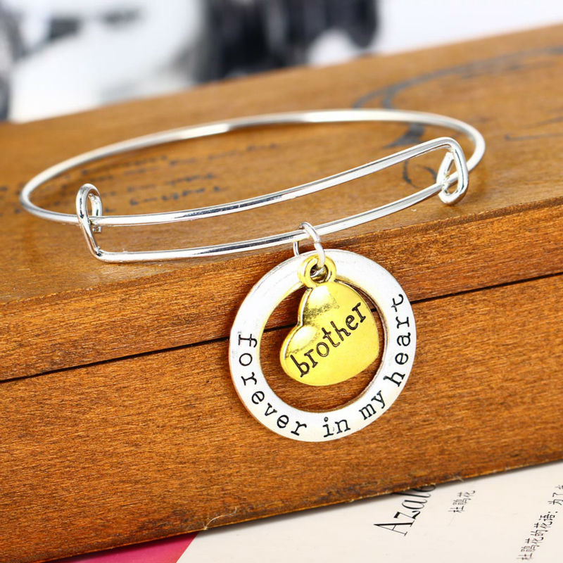 Forever In My Heart Brother Bangle Jewelry Family S Gifts Bracelet Love Best Friends Friendship Charm Bracelets From Accessories On