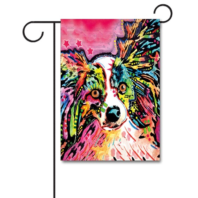 Le Drôle de chien décoratif maison Bannière Double-Sided Garden Flag Yarg Drapeau