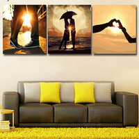 3pcs Set 50 50 Diy Oil Painting By Numbers Triptych Acrylic Painting Coloring Paint By Number