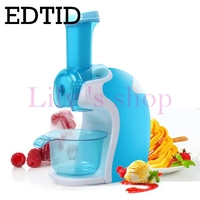 Full automatic electric ice cream machine household mini DIY soft icecream maker Cold Frozen Fruits dessert drink dispenser EU