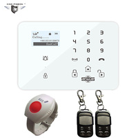 Alarm GSM System Android Security Home Pensonal Elderly Alarm Wireless 433MHz Remote Control SOS Panic Button K9Y