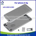 """10 unids Nuevo Original 4.7 """"de metal volver asamblea de la cubierta para el iphone 6 6g volver cubierta de la puerta posterior de la batería de vivienda media repuestos"""