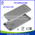 """10pcs New Original 4.7"""" Metal Back Housing Assembly for iPhone 6 6g Back Housing Mid Frame Rear Battery Door Cover Spare Parts"""