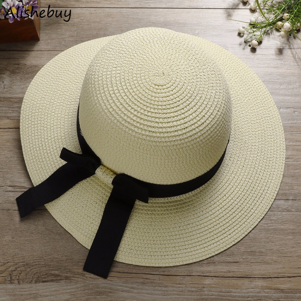 a9448cf2c8e Buy summer ladies capes vacation bow tie straw jpg 1000x1000 Large sun hat  tie