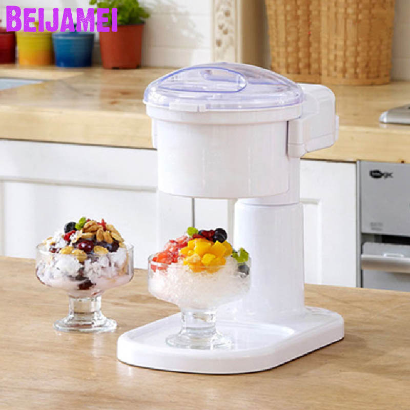 BEIJAMEI 2020 Wholesale Ice Crushers planer commercial ice breaker home electric ice shaving making machine image