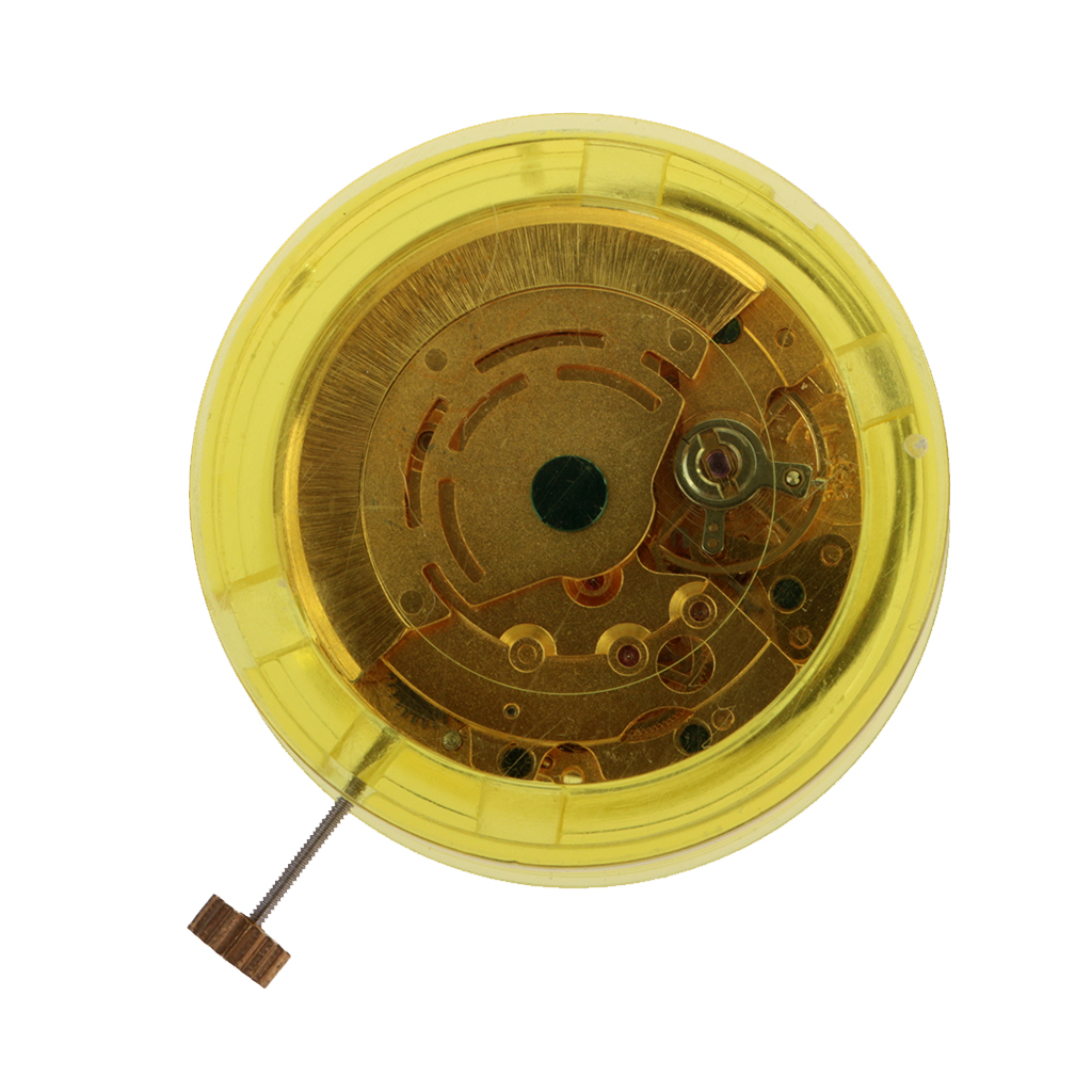 MagiDeal Automatic Mechanical Clock Watch Day Wide Movement 8205 Gold Finish Movement Accessories