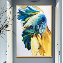 100% Hand painted Realistic goldfish art Painting On Canvas Wall Art Adornment pictures For Live Room Home Decor