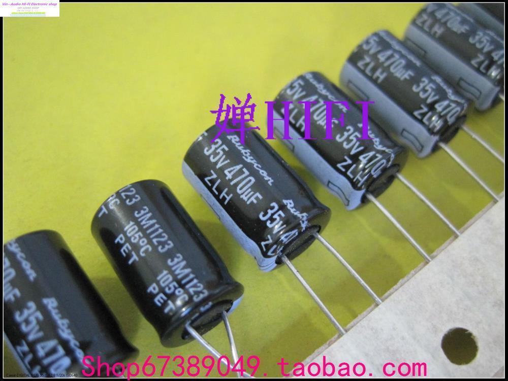 2019 Trou Traversant Condensateurs 10 pcs/20 pcs Nouveau Japon Rubycon Véritable Ruby Condensateur Électrolytique 35v470uf 10x16 zlh Livraison Gratuite