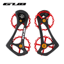 GUB Drivetrain 17T Bike Carbon Ceramic Bearing Wheel Bicycle Rear Derailleur Pulley R6000 R8000 Black Red