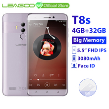 LEAGOO T8s 4 Гб ОЗУ 32 Гб ПЗУ мобильный телефон Android 8,1 5,5 ''1920*1080 MTK6750T Восьмиядерный Лицо ID 13MP двойная камера 4G смартфон