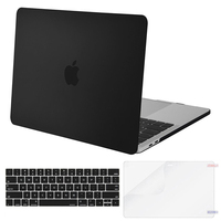 Mosiso For Macbook Pro 15 With Touch Bar A1707 Protective Hard Shell Case Black Clear Replacement