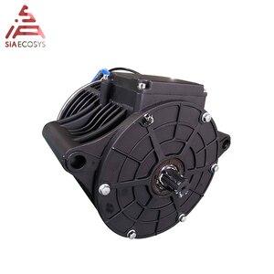 Image 2 - QS MOTOR 138 3000W yeni sürüm orta tahrik motoru dişli 428 ve EM150SP kontrol elektrikli motosiklet Z6 100KPH 72V