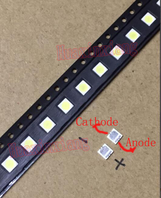 купить 100PCS/Lot SEOUL 3535 6V 2W SMD Cold White LED High Power For LCD/TV Backlight по цене 618.1 рублей