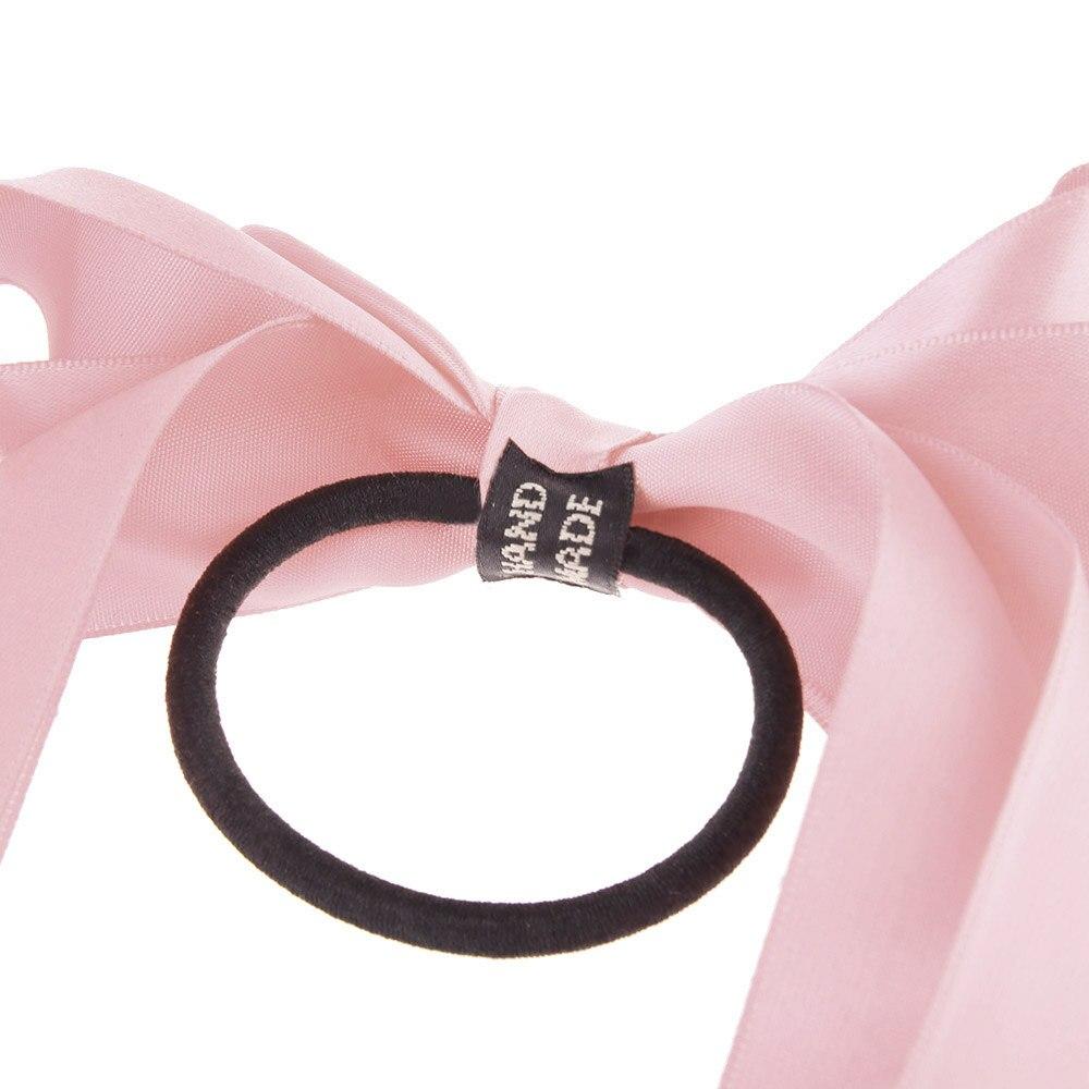 Fashion Women Satin Ribbon Bow Elastic Hair Band Girls Hair Tie Ring ...