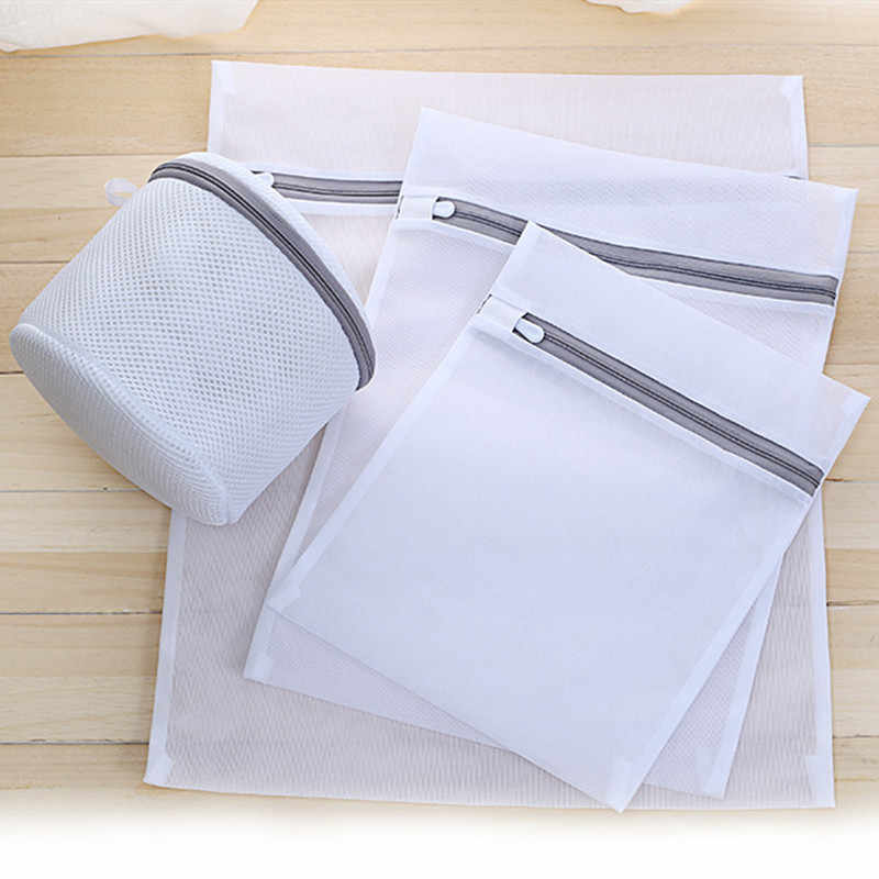 Hot Sale Mesh Laundry Bags for Washing Machine Travel Clothes Storage Net Zip Bag for Wash Bra Stocking and Underwear