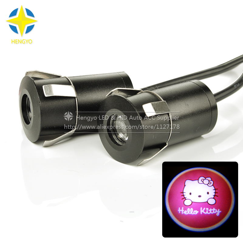 Car Door Step Courtesy Welcome Light Projector Laser Logo Light Ghost Shadow Puddle Emblem Spotlight Drop For Hello Kitty. 1 pair auto brand emblem logo led lamp laser shadow car door welcome step projector shadow ghost light for audi vw chevys honda